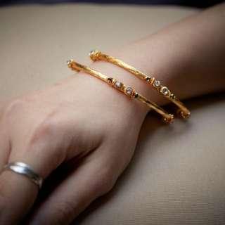 印度 鍍金 手鐲 手鈪 手環 India gold bangles jewellery