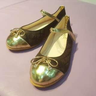 韓國Guru女童真皮公主鞋 Size 220