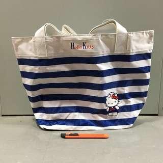 Hello Kitty 水手 藍白間 上膊 側孭袋 雜誌贈品 已絕版