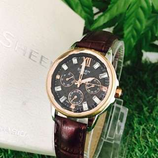 Authentic Casio Sheen Leather strap