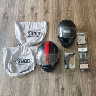 2x SHOEI (L+S) Helmets (PSB approved) (2013) (XR-1100) + original receipt