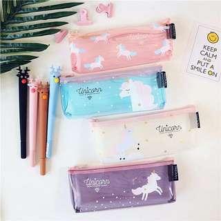 Po: Unicorn Transparent Pencil Case