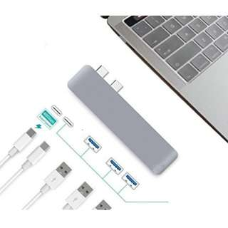 "Ultra Thin USB-C Hub Multiport Type-C Hub Adapter Aluminum for 2016/2017 MacBook Pro 13""&15""- 3 USB 3.0 Ports, Type C Charging Port, type C Port - Ultra Fast"