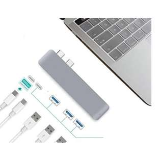 "Ultra Thin USB-C Hub Multiport Type-C Hub Adapter Aluminum for 2016/2017 MacBook Pro 13""&15""- 3 USB 3.0 Ports, Type C Charging Port, type C Port - Ultra Fast"