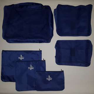 QYOP 6 Piece Pouch Set