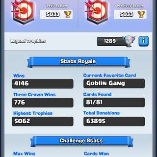 Clash Royale 5k pb all cards