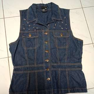 DIY H&M denim vest/jacket