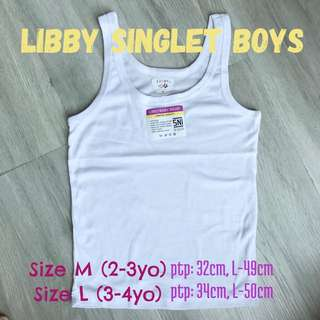 $3 Boy Singlet School white top