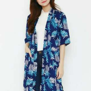 NEW !! Long Outer Leafy Navy