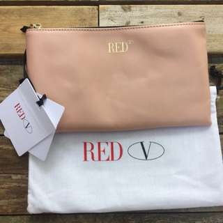 RED Valentino pink leather pouch 小包 *Brand New*