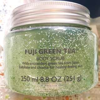 Body Shop Fuji Green Tea Body Scrub 富士綠茶身體磨砂膏