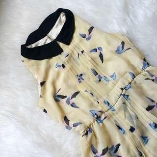 Zara birds dress size S #CNY2018