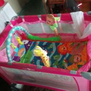 Baby crib pink APPROVA