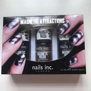 Brand New Magnetic Attraction Nails Inc London 3X10ml