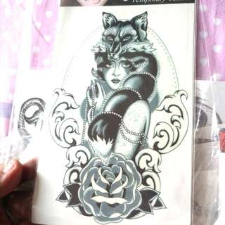 M37 Waterproof Large Temporary Tattoo Stickers Men Leg Fake Transfer Tattoo Dragon Lion Sexy Products High Quality