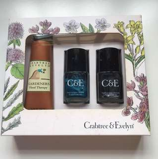 Brand New Crabtree and Evelyn Nail colour and Hand Cream set