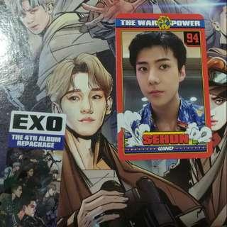 EXO-POWER拆專韓文版 專連世勳小卡不連漫畫卡