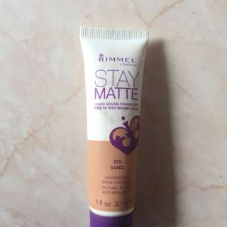 Rimmel stay matte foundation SHADE SAND