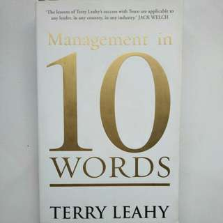 (Buku Impor) Management in 10 Words by Terry Leahy