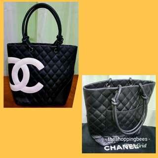 Authentic Chanel Cambon Lambskin Handbag