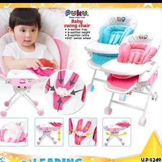 Puku baby high chair multi function (combi swing chair like)