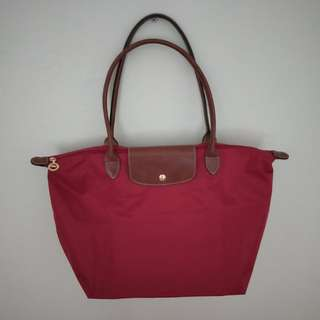 (SWAP or Sell) Authentic Brand New Longchamp Wine Red Tote Bag