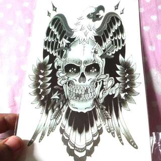 M24 Waterproof Large Temporary Tattoo Stickers Men Leg Fake Transfer Tattoo Dragon Lion Sexy Products High Quality
