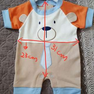 Teddy bear Baby Romper 0 to 3 months