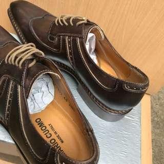 Sepatu Pantofel Mario Cuomo Coffee Original Italy