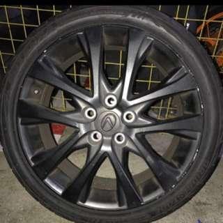 "18"" 114.3 x 5 Lexus Rims with Bridgestone RE003"