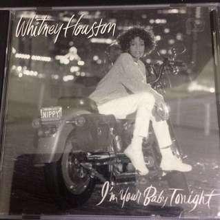 Cd 58 Whitney Houston Early pressing, silver rim