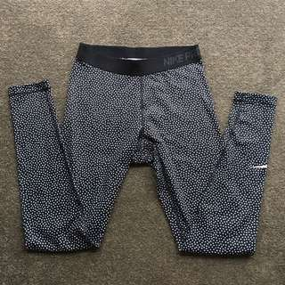 Patterned Nike pro tights