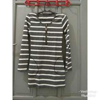 Sweater Dress Lengan panjang