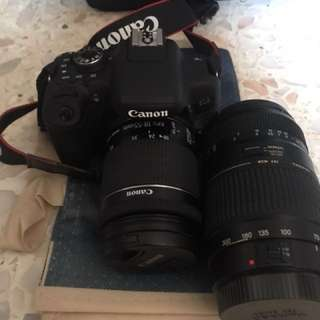 Canon EOS 750D camera and several other accessories