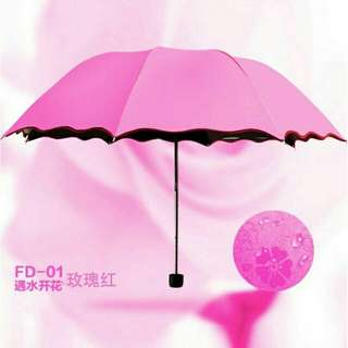 Folding Windproof Flowering Umbrella