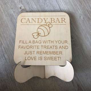 Pre-loved Wedding Candy Bar Signboard