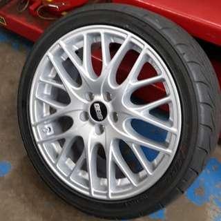 "BBS CS-5 wheels rims 17""x7.5"""