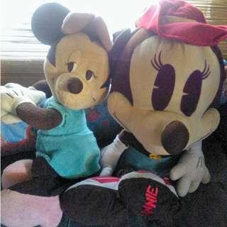 Pre-loved Mickey and Minnie