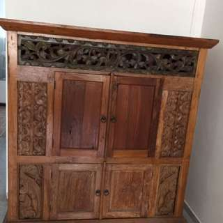 Solid wood storage cabinets