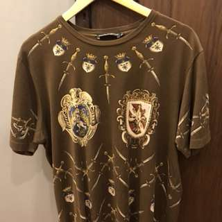 DOLCE and GABBANA Short Sleeve Shirt Size 52 or Large
