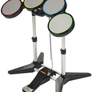 Xbox 360 rock band drums set