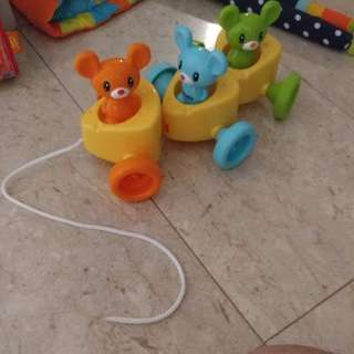 Toddler pulling toy