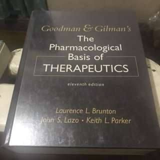 Goodman and gilman pharmacology