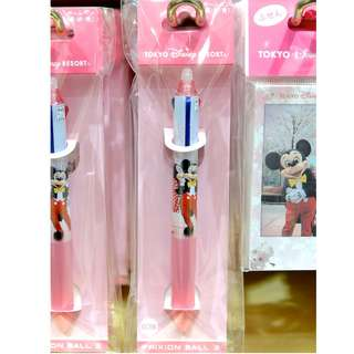 Tokyo Disneysea Disneyland Disney Resorts Sea Land Disney Resort Sakura 2018 Mickey Minnie Mouse 3 Color Friction Pen