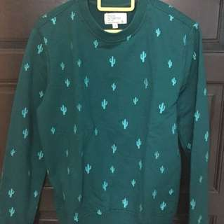 Padini Long Sleeve Green Shirt