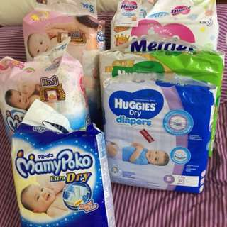 Pampers - Merries ,Mammy Poko , Huggies