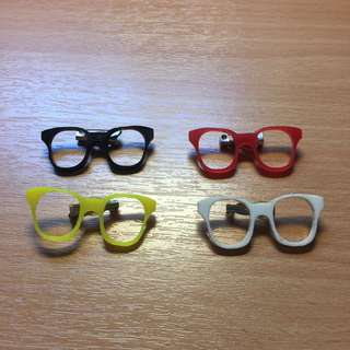 Spectacles / glasses pins. Assorted Colours.