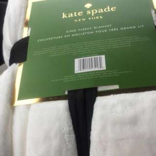 White Kate Spade King Fleece