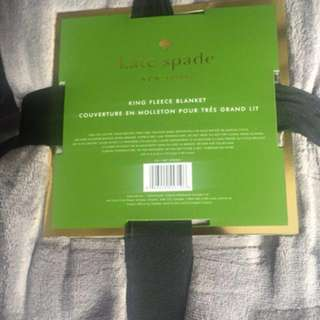 Grey Kate Spade King Fleece