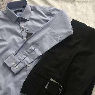 Office wear (black slacks)